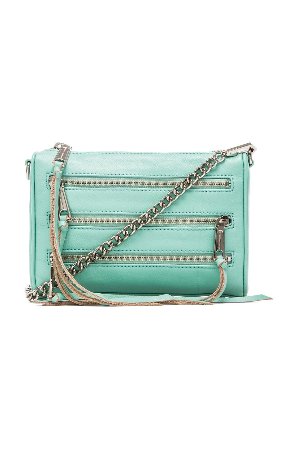 Rebecca Minkoff Mini 5 Zip in Minty