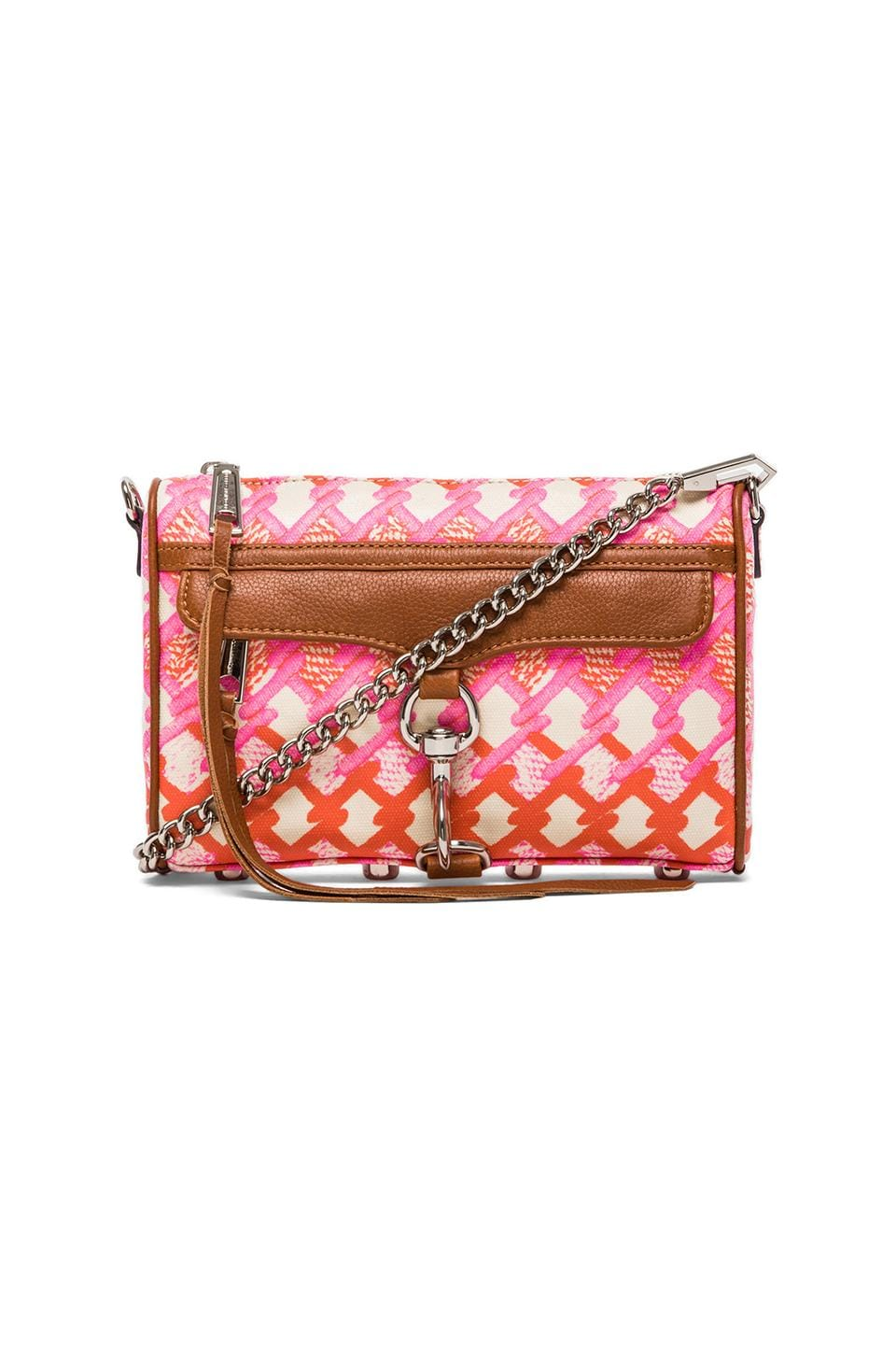 Rebecca Minkoff Mini Mac in Pink  Orange Print
