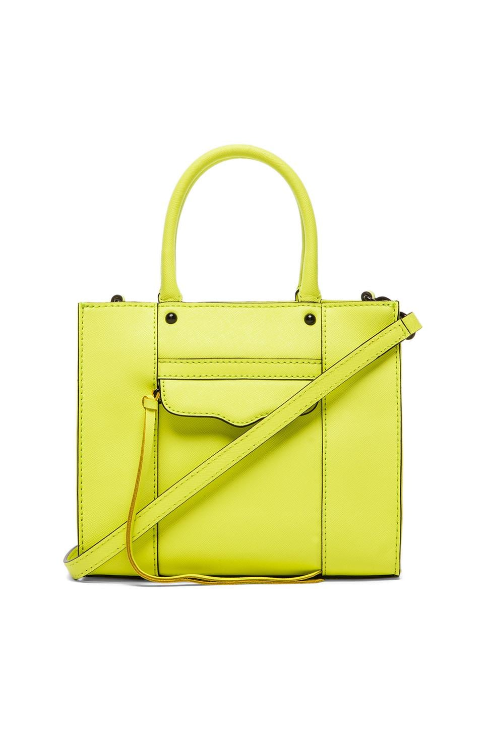 Rebecca Minkoff MAB Tote Mini in Acid Yellow