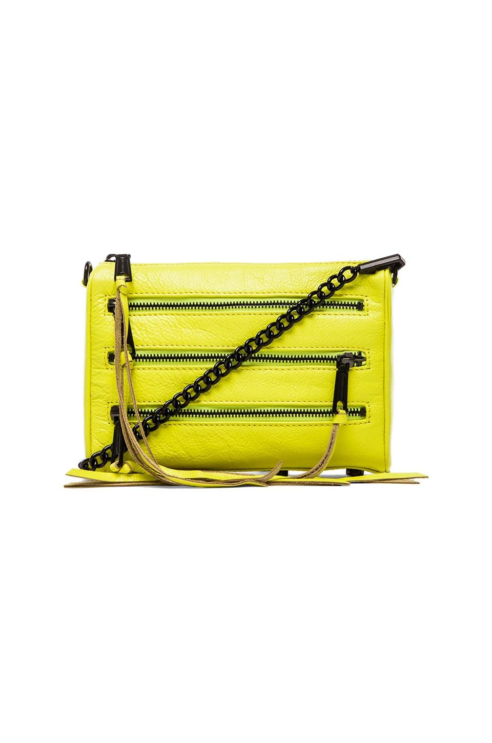 Rebecca Minkoff Mini 5 Zip in Acid Yellow
