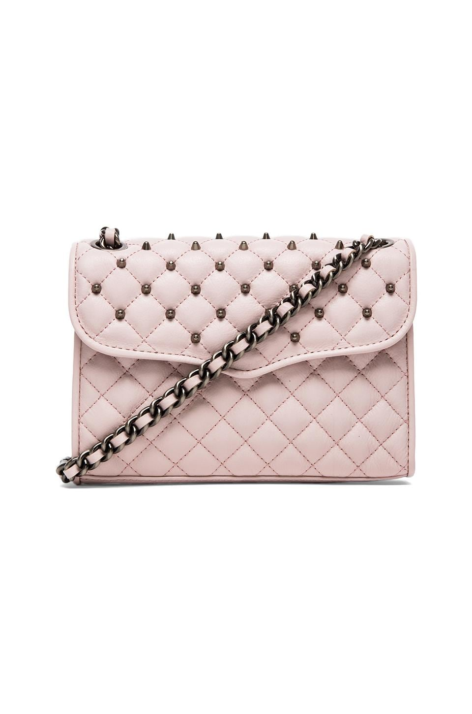 Rebecca Minkoff Quilted Mini Affair with Studs in Pale Pink