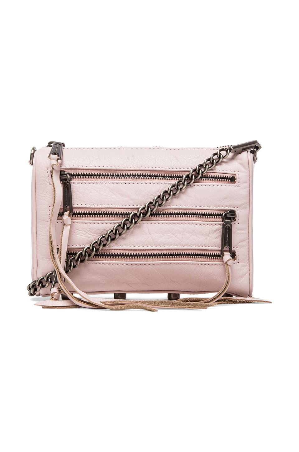 Rebecca Minkoff Mini 5 Zip in Pale Pink