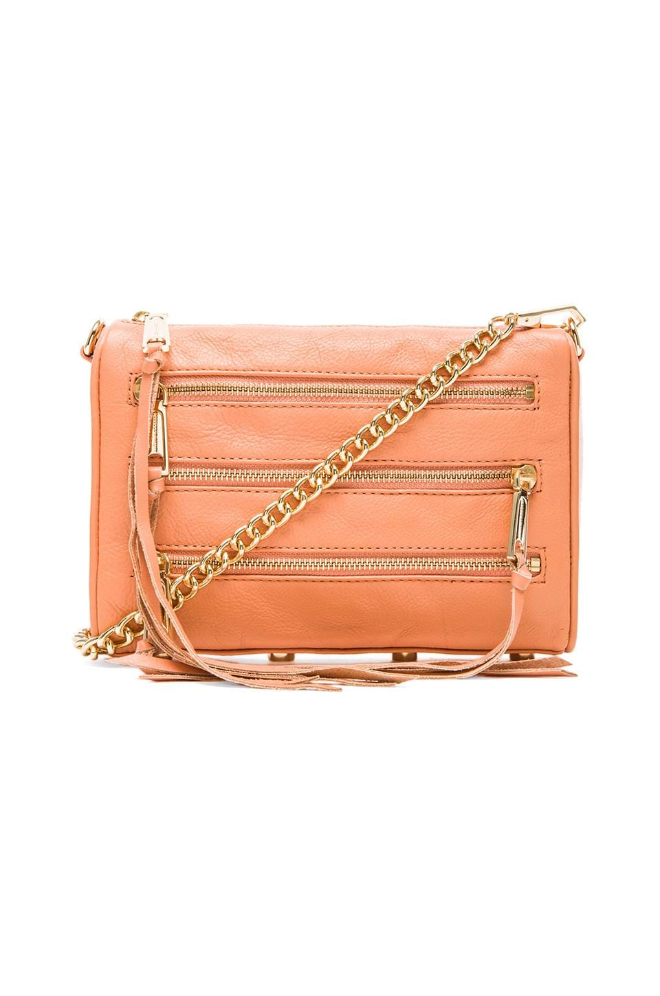 Rebecca Minkoff Mini 5 Zip in Peachy