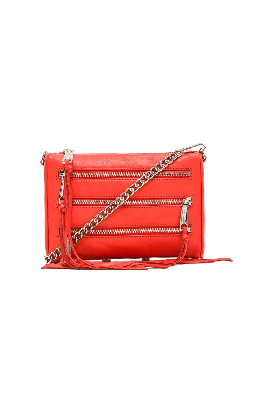 Rebecca Minkoff Mini 5 Zip in Blood Orange