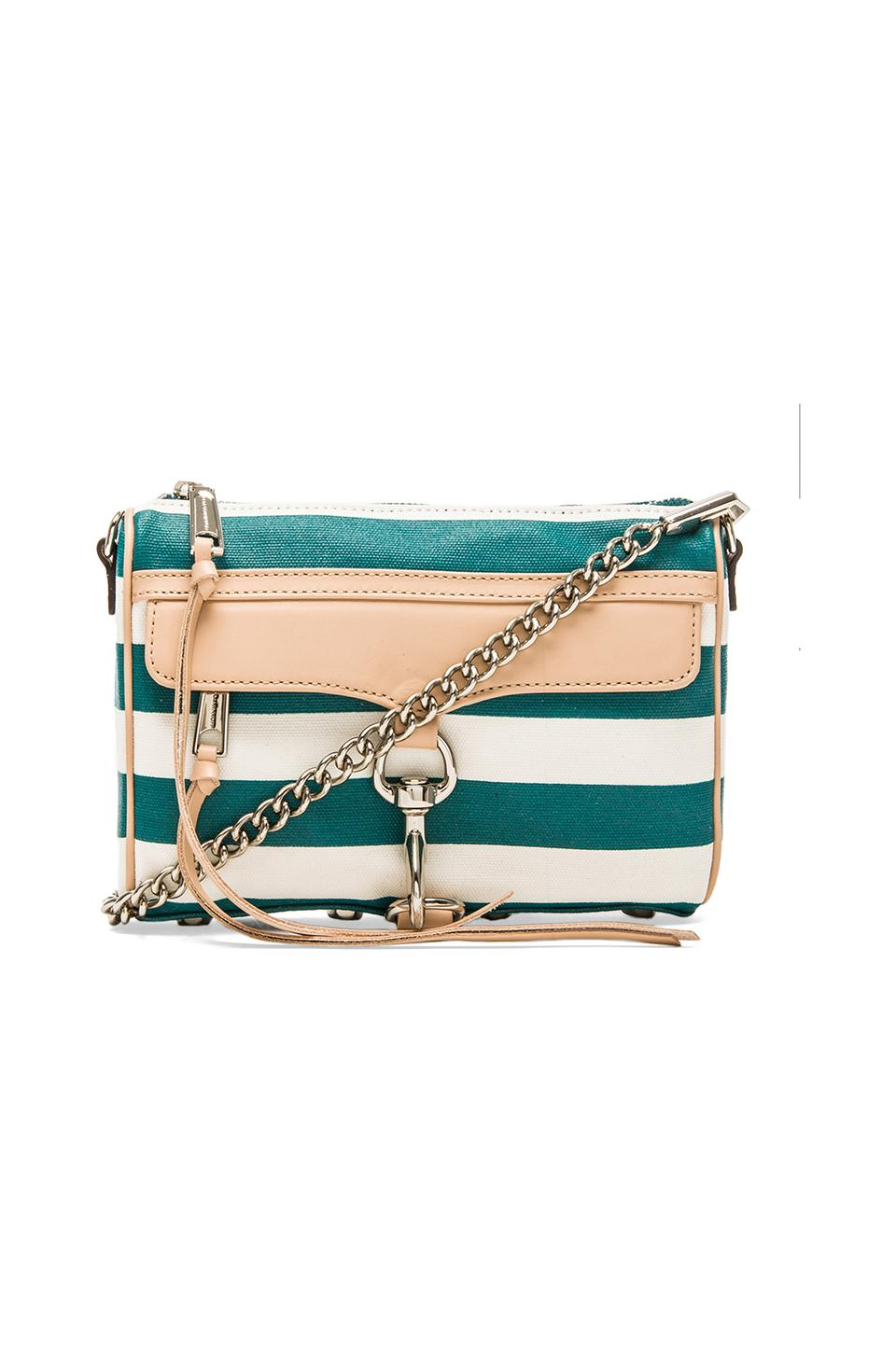 Rebecca Minkoff Mini MAC in Teal Stripe