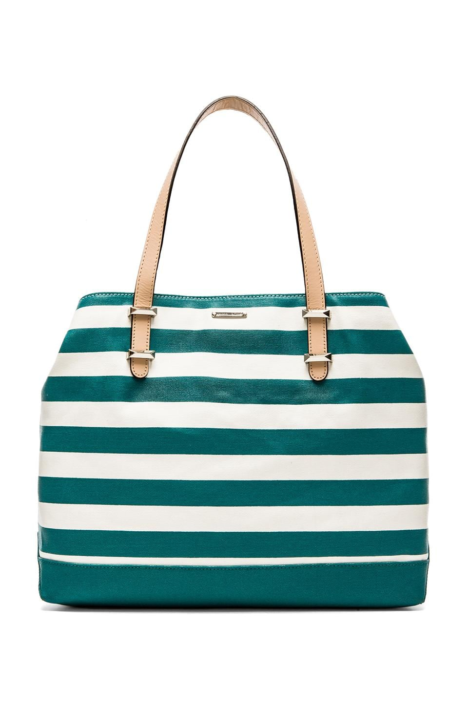 Rebecca Minkoff Cherish Tote in Teal Stripe