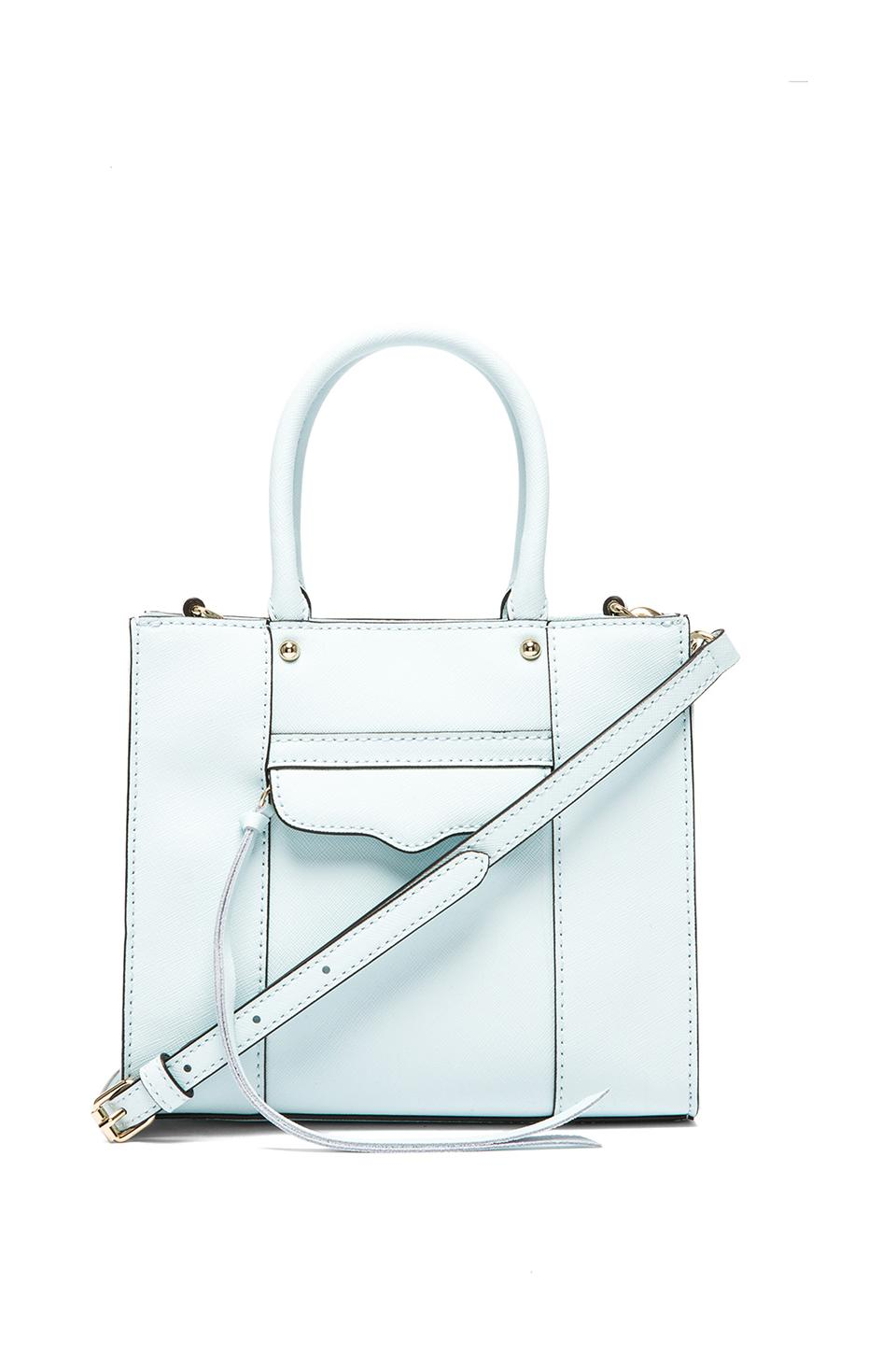 Rebecca Minkoff MAB Tote Mini in Light Turq