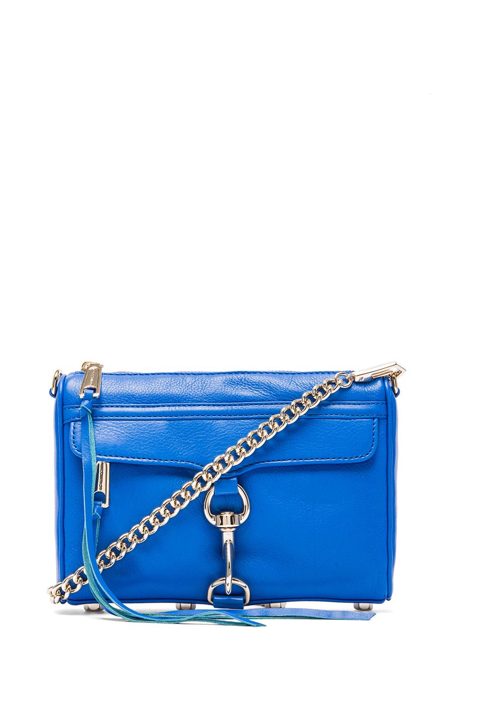 Rebecca Minkoff Mini MAC in Bright Blue