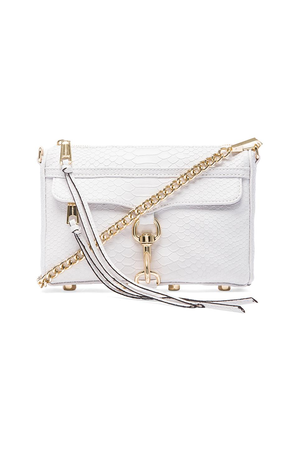 Rebecca Minkoff Mini MAC in White Snake