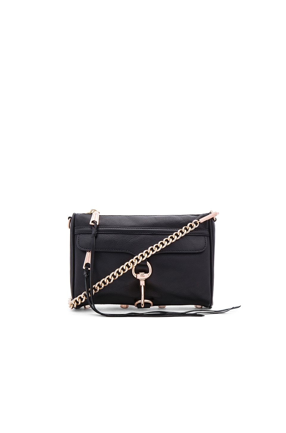 Rebecca Minkoff Mini MAC in Black & Rose Gold