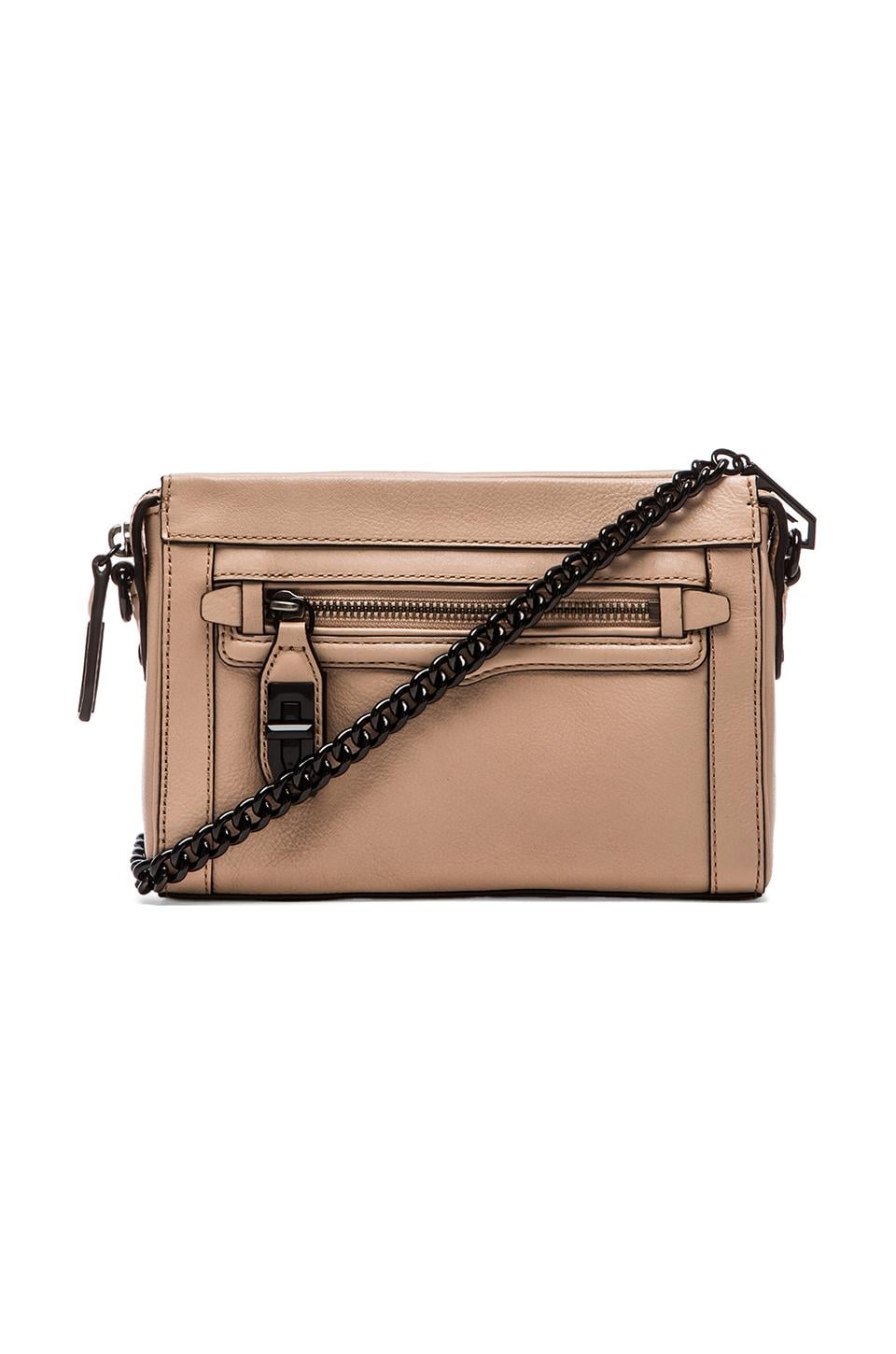 Rebecca Minkoff Mini Crosby Crossbody in Latte
