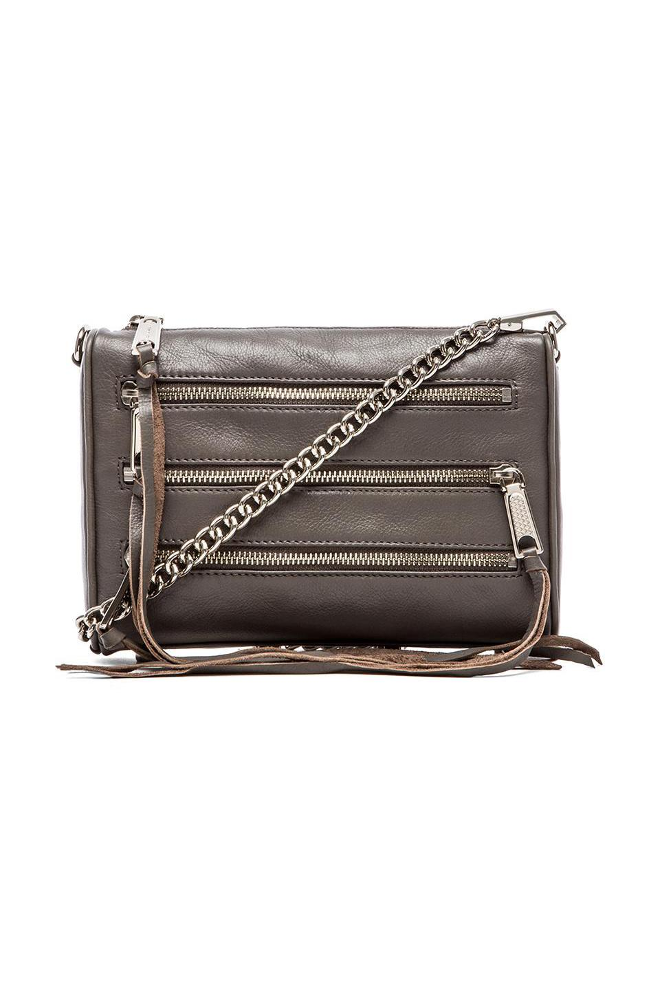 Rebecca Minkoff Mini 5 Zip in Charcoal