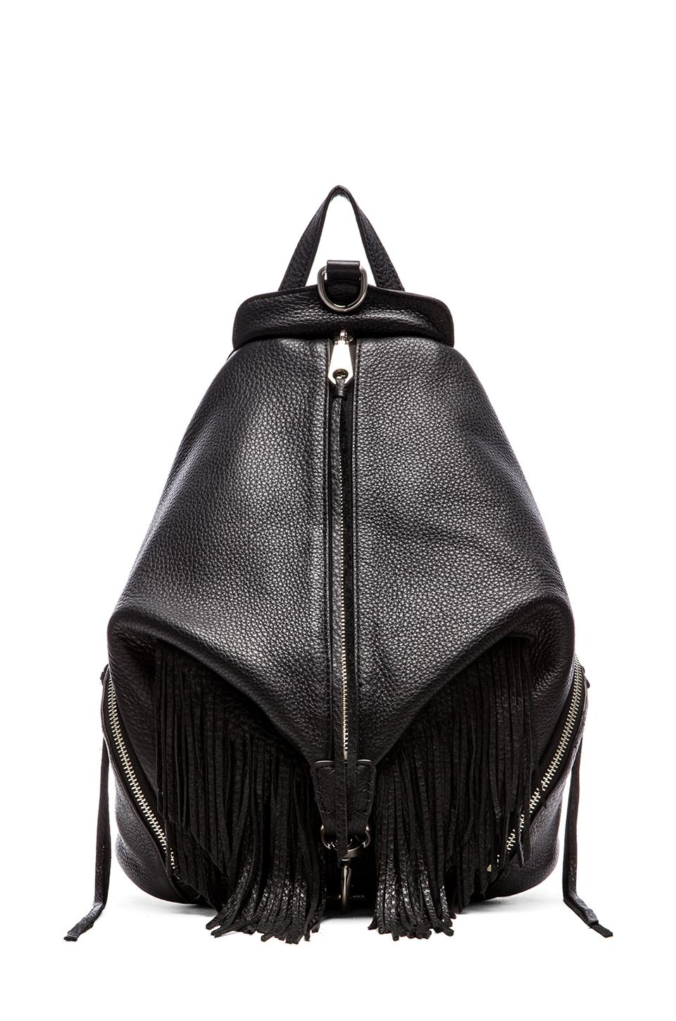 Rebecca Minkoff Julian Backpack with Fringe in Black