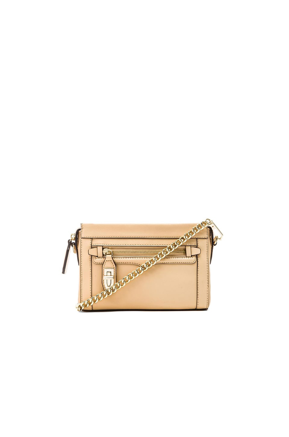 Rebecca Minkoff Mini Crosby Crossbody in Biscuit
