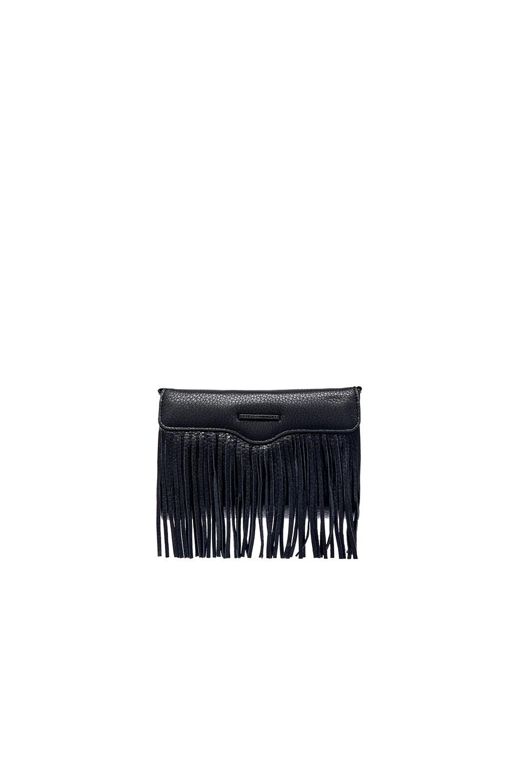 Rebecca Minkoff Universal Fringe Crossbody Bag in Black