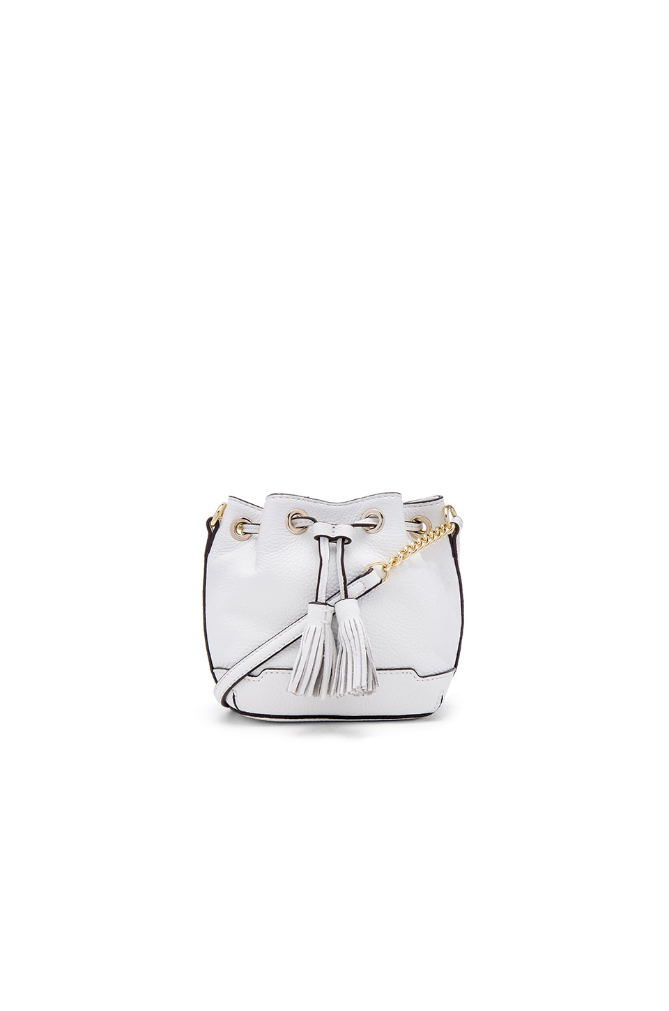 Rebecca Minkoff Micro Lexi Bucket Bag in White