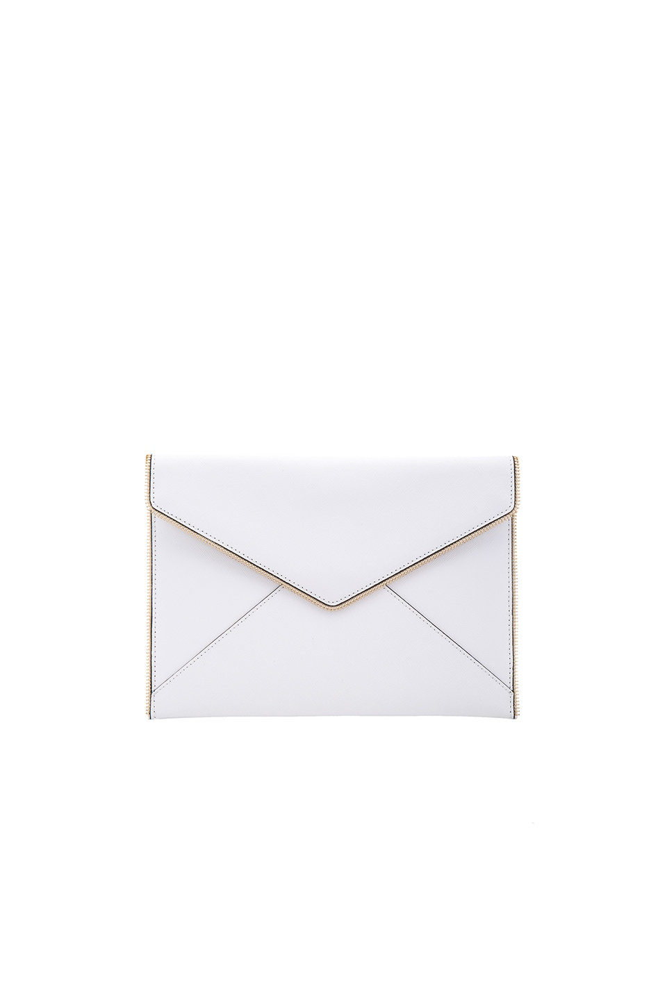 Rebecca Minkoff Leo Clutch in White