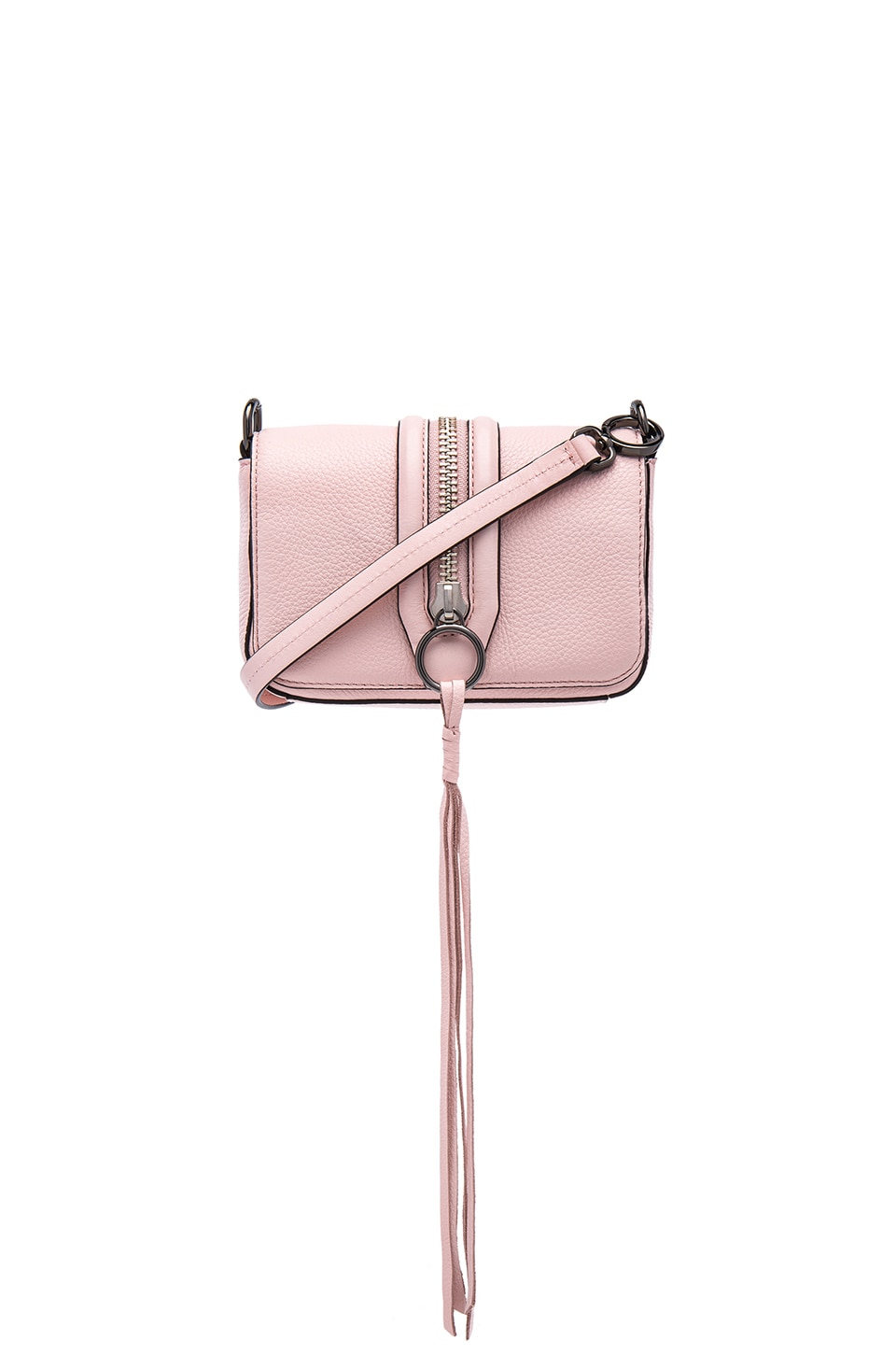 Rebecca Minkoff Mini Mara Crossbody Bag in Pale Blush