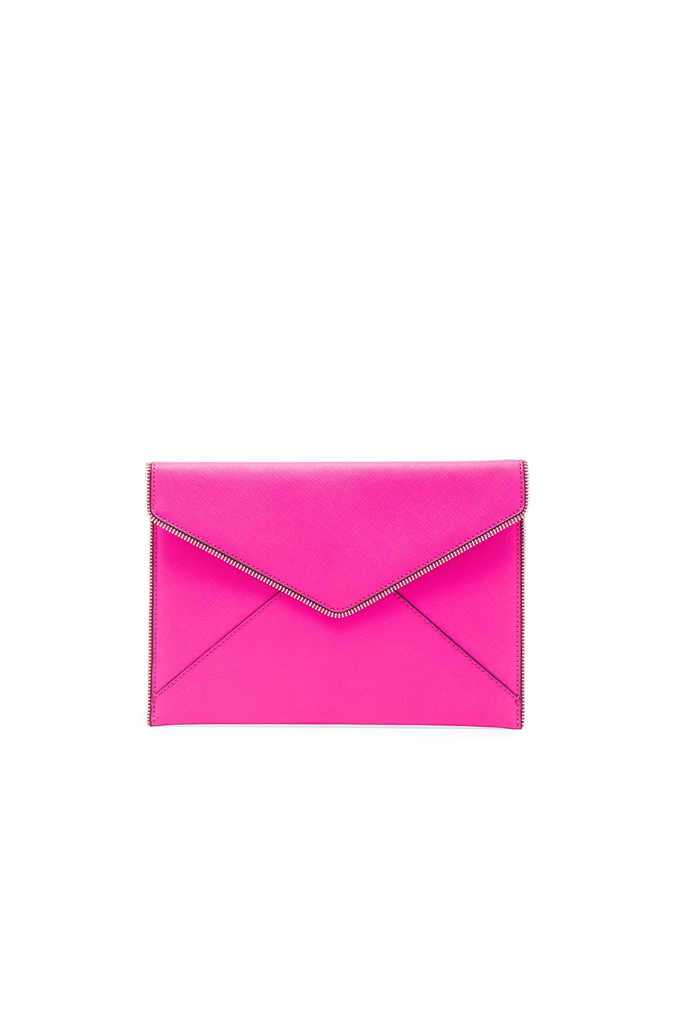 Rebecca Minkoff Leo Clutch in Flamingo