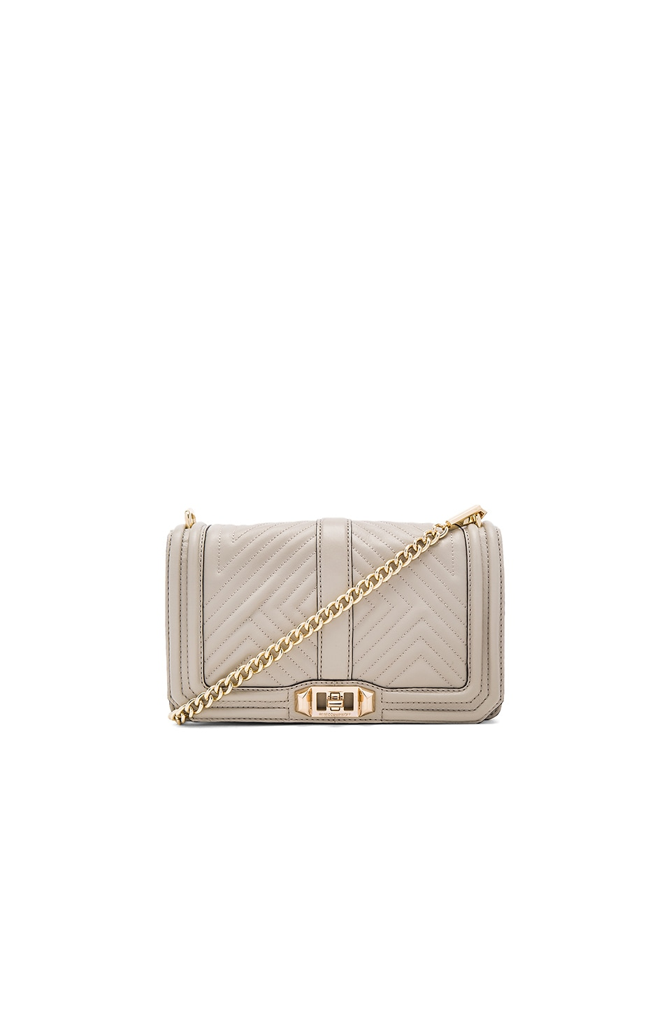 Rebecca Minkoff Geo Quilted Love Crossbody Bag in Khaki
