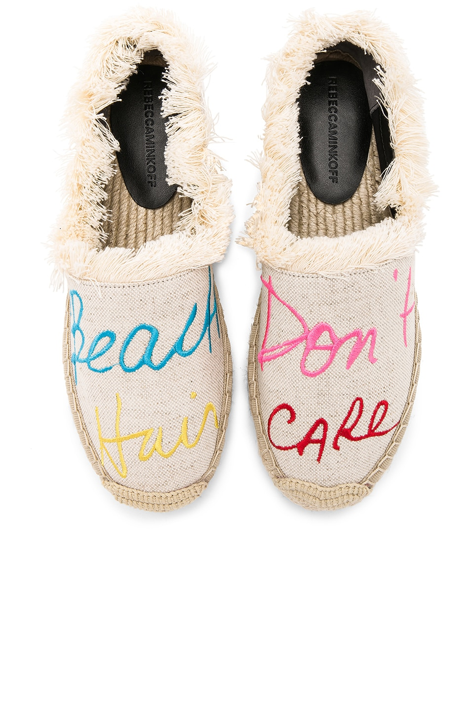 Rebecca Minkoff Baylee Beach Hair Dont Care Espadrille in Natural Canvas