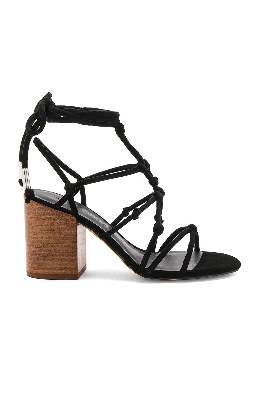 Rebecca Minkoff Carmela Heel in Black Nappa