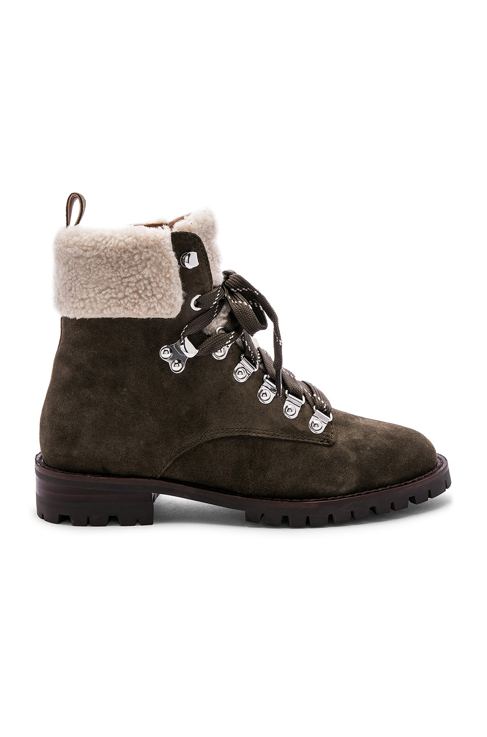 Rebecca Minkoff Jaylin Boot in Olive Suede