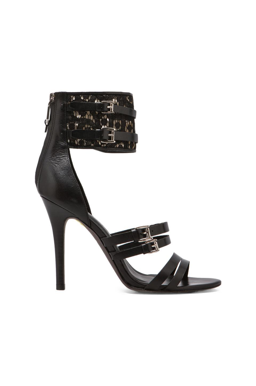 Rebecca Minkoff Miller Heels in Black/Black Lace