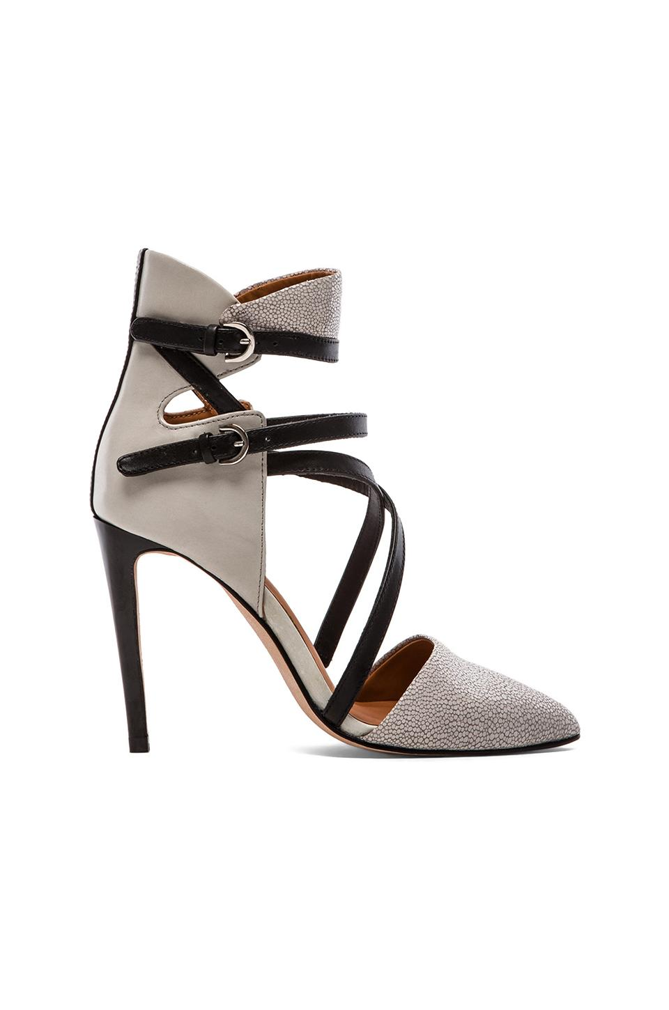 Rebecca Minkoff Raz Heel in Pale Grey Stingray