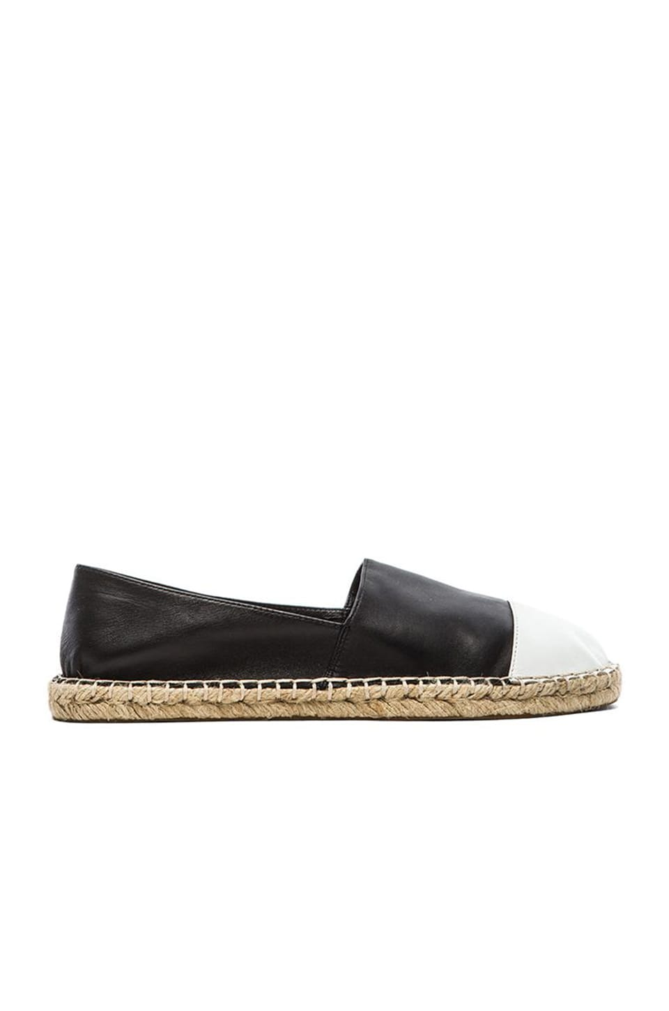 Rebecca Minkoff Gavin Flat in Black & White