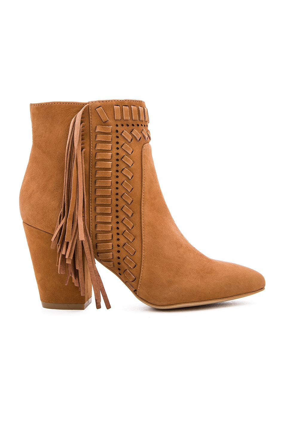 Rebecca Minkoff Ilan Bootie in Butterscotch Kid Suede