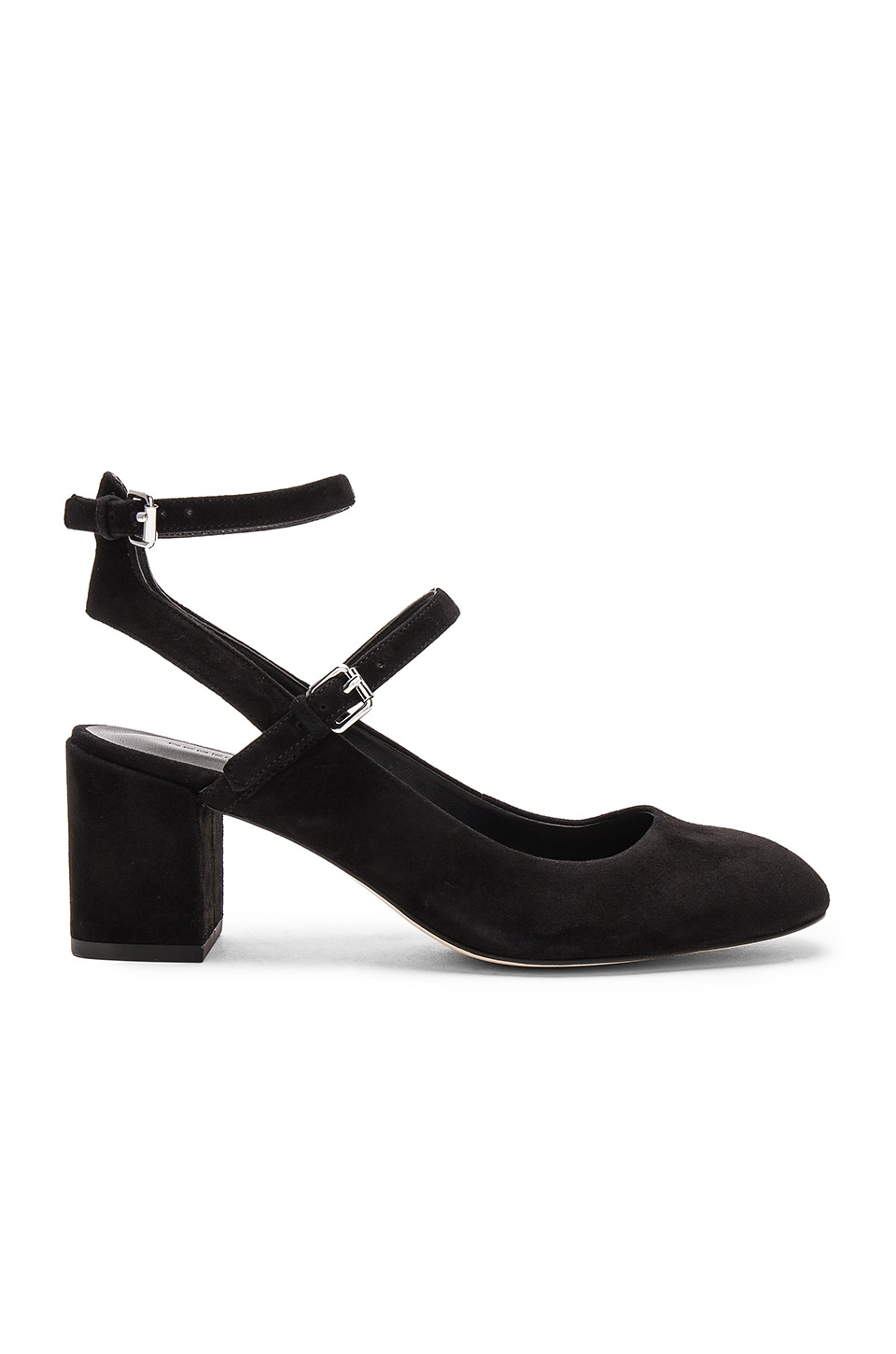 Rebecca Minkoff Brooke Heel in Black Kid Suede