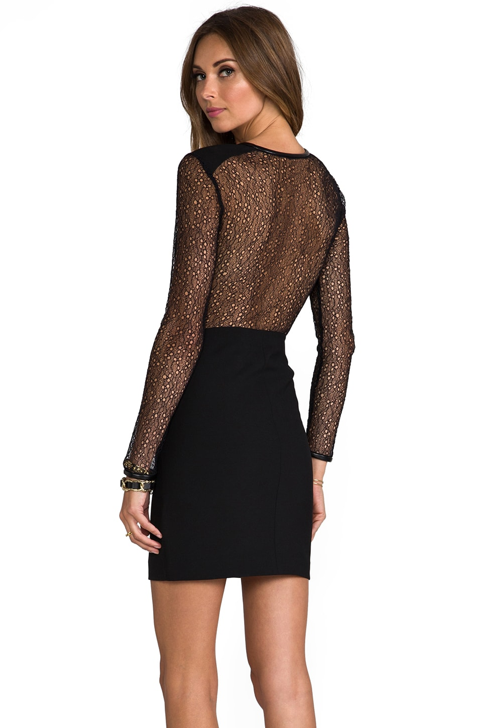 Robert Rodriguez Lace Back Dress in Black