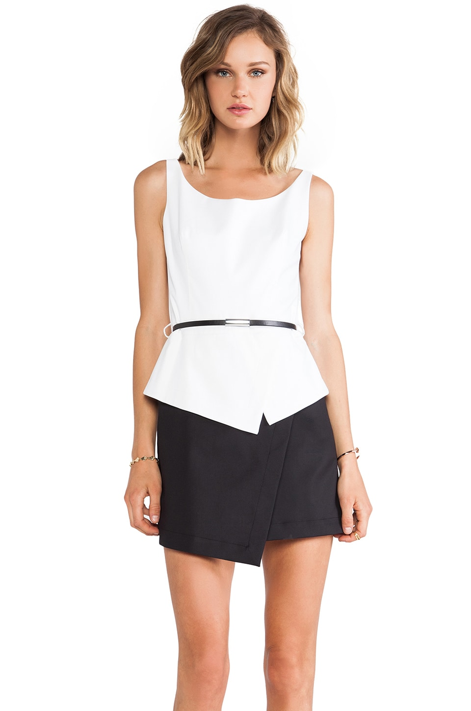 Robert Rodriguez Techno Tank Dress in White