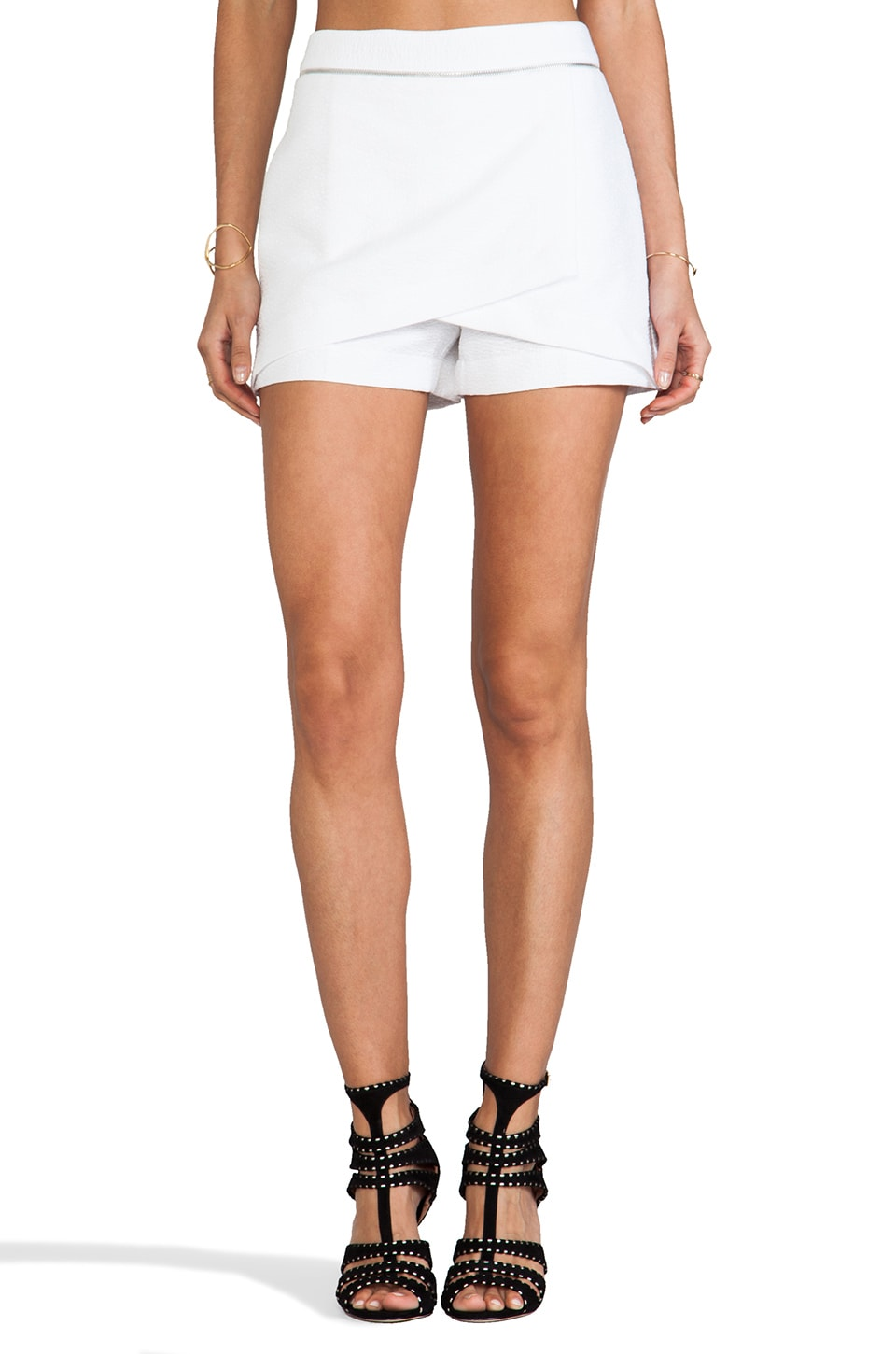 Robert Rodriguez Animal Jacquard Wrap Shorts in White
