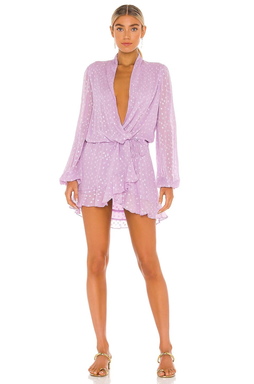 ROCOCO SAND X REVOLVE Lurex Dress Lurex in Lilac