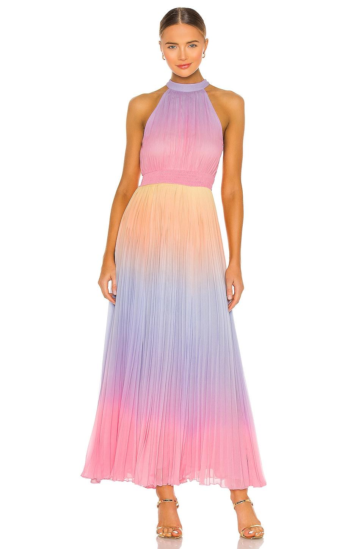 ROCOCO SAND Emi Pleat Dress in Multi
