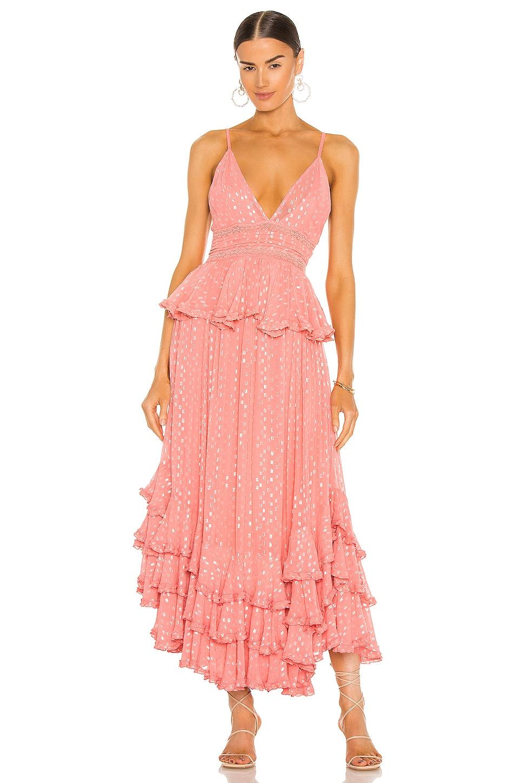 ROCOCO SAND Aria Maxi Dress in Peach