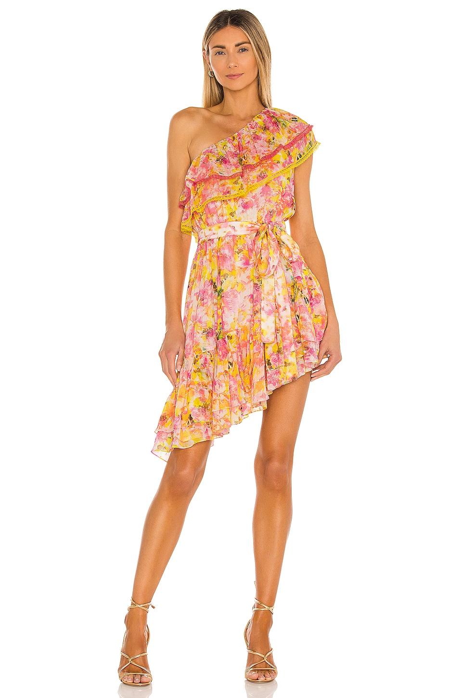 ROCOCO SAND Nesh Mini Dress in Yellow