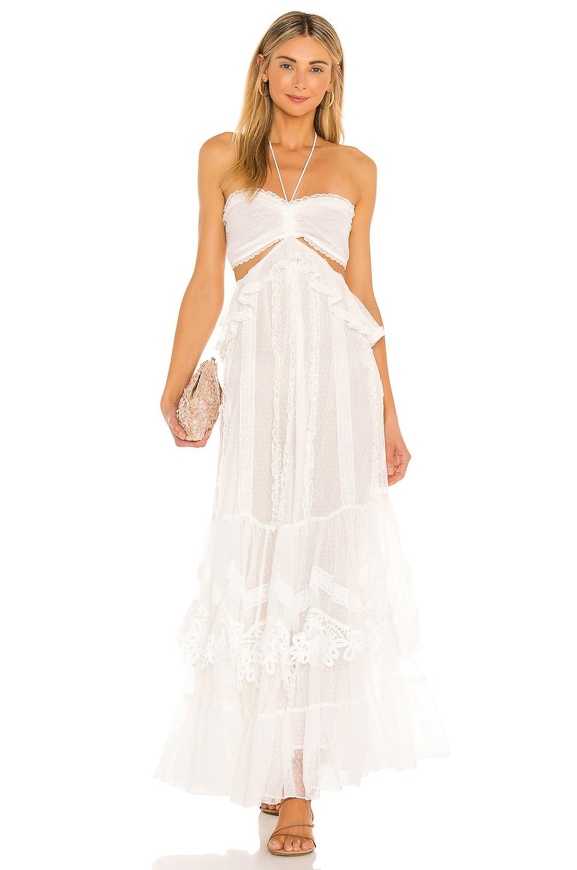 ROCOCO SAND Ame Maxi Dress in White