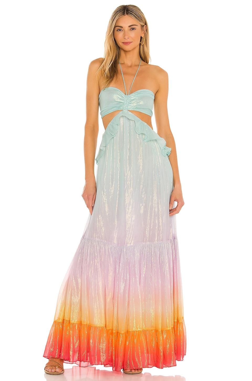 ROCOCO SAND Leal Cutout Dress in Multicolor