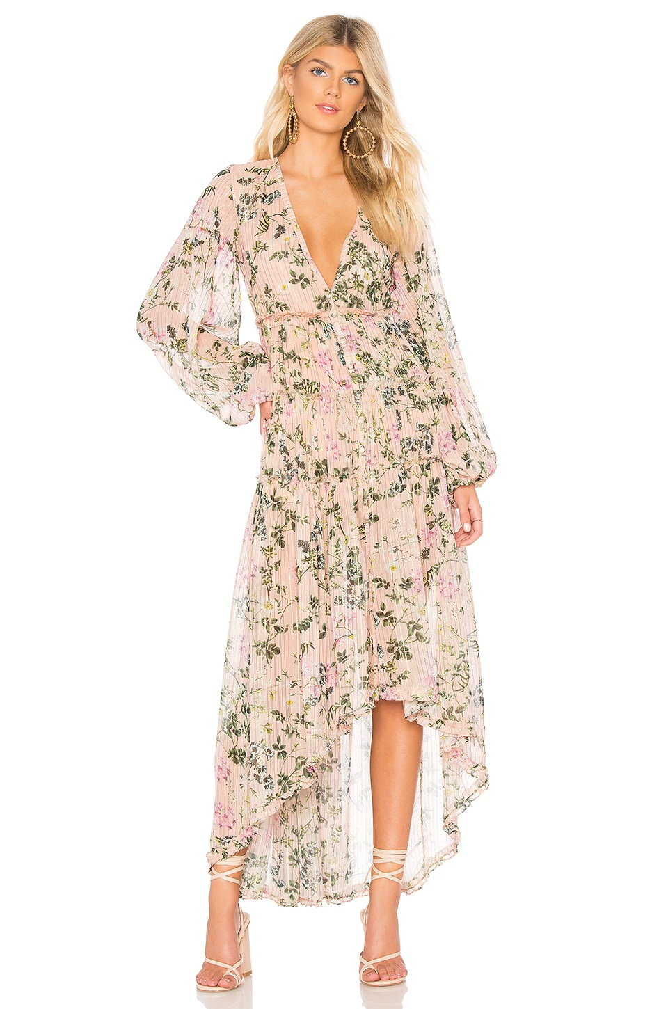 ROCOCO SAND x REVOLVE Flora Maxi Dress in Nude Floral