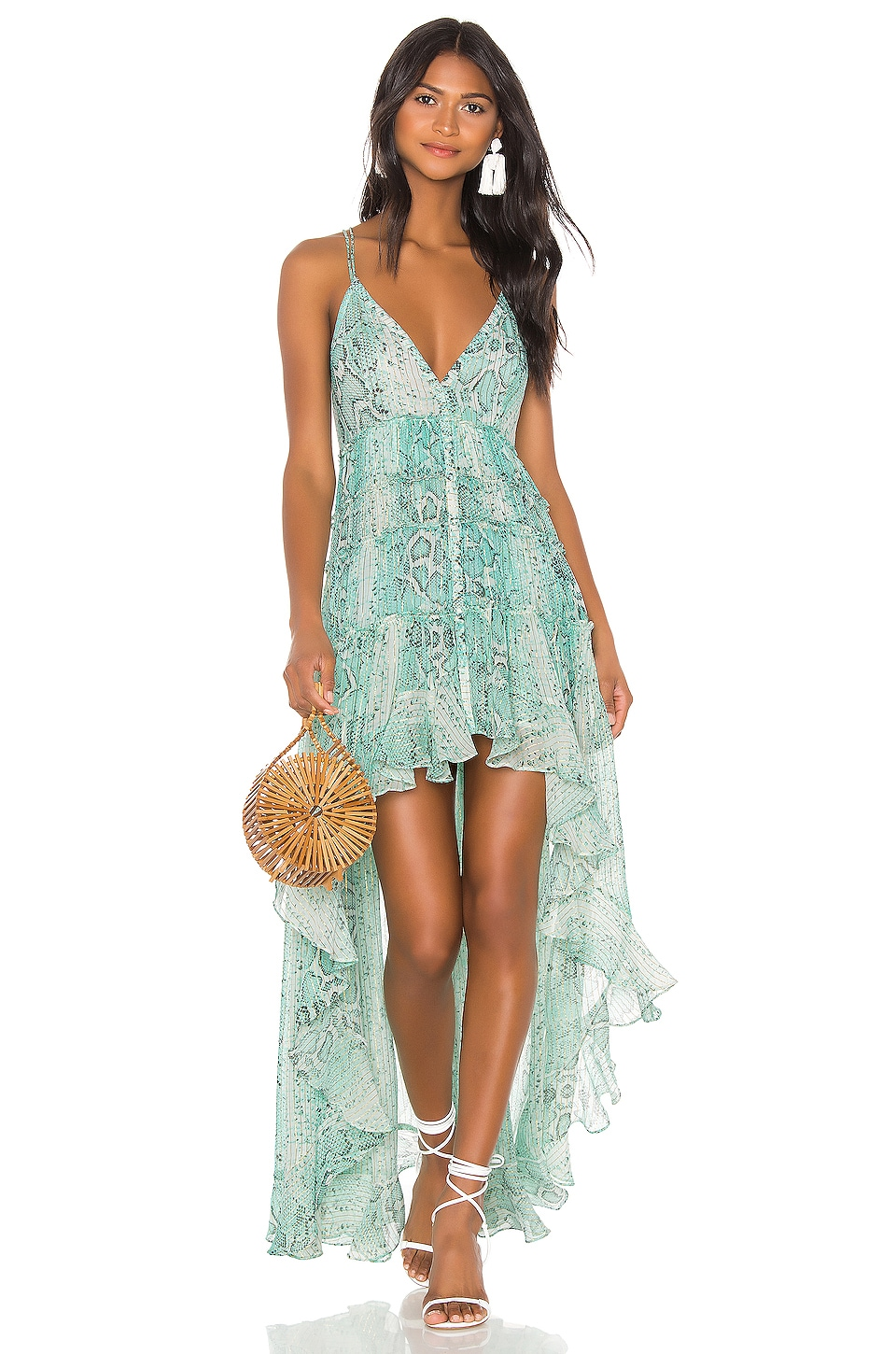 ROCOCO SAND x REVOLVE Lexi Maxi Dress in Teal Snake