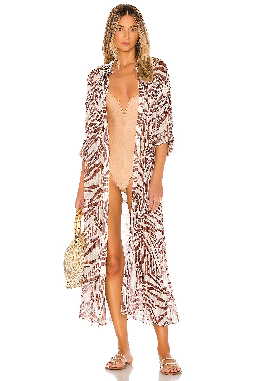 ROCOCO SAND x REVOLVE Braun Shirt Dress in Zebra