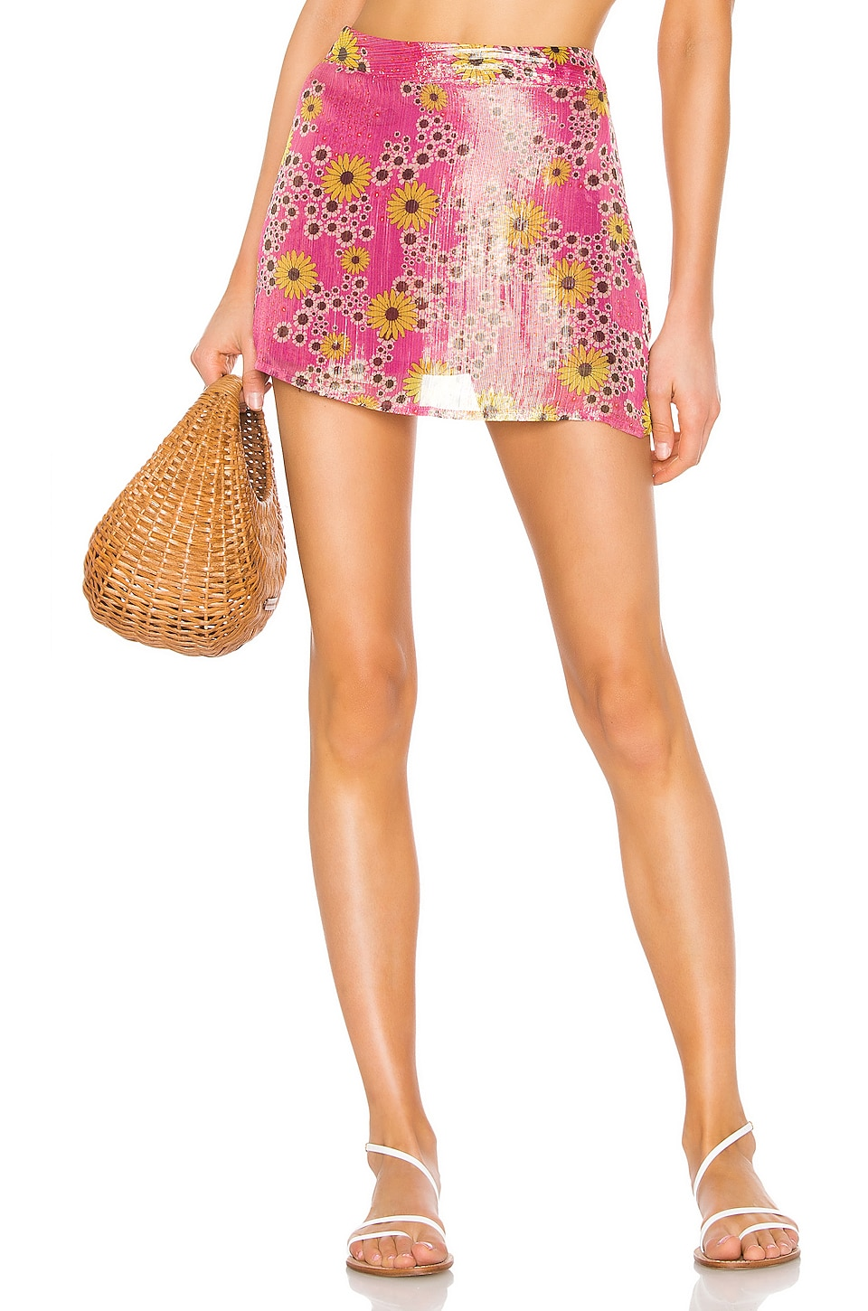 ROCOCO SAND x REVOLVE Mini Skirt in Pink Floral