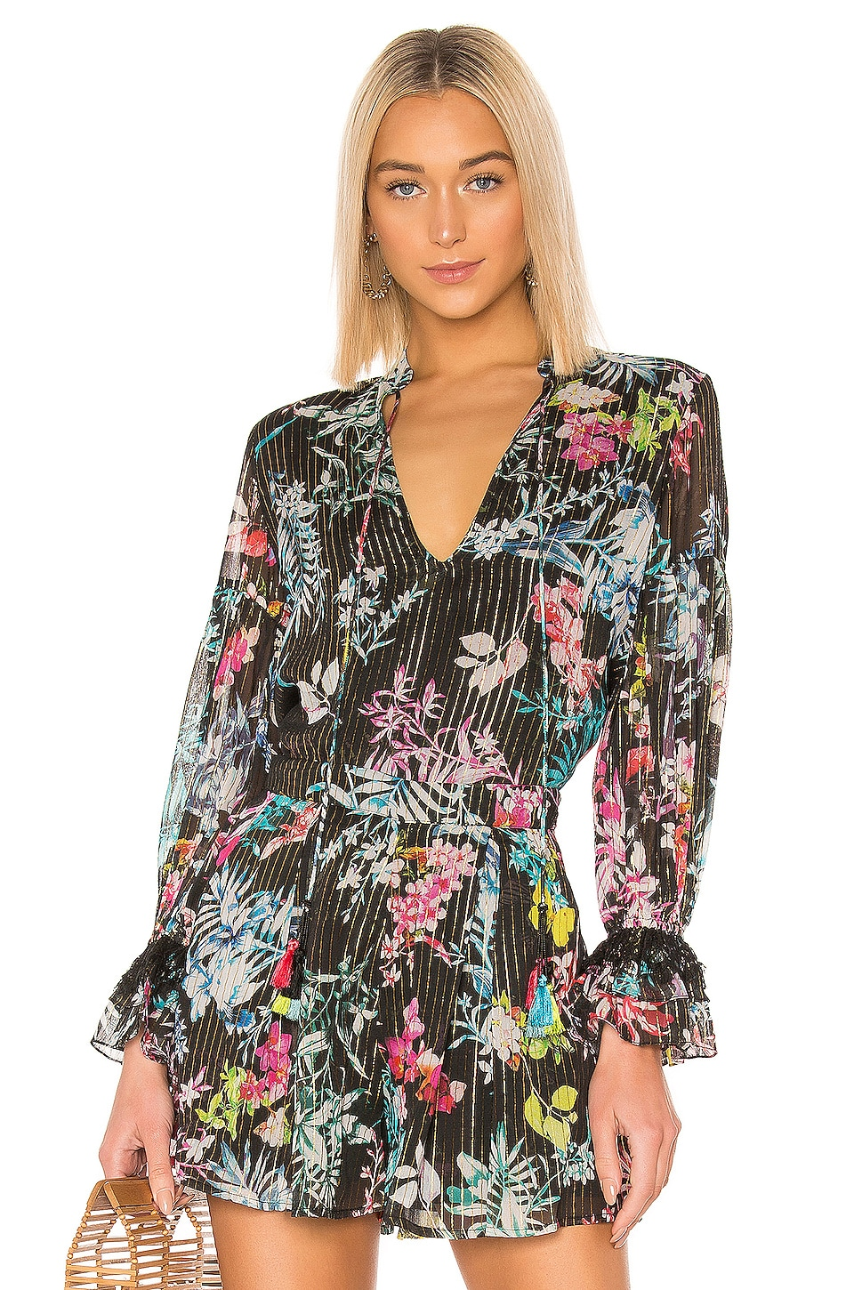 ROCOCO SAND Moonlight Printed Blouse in Black