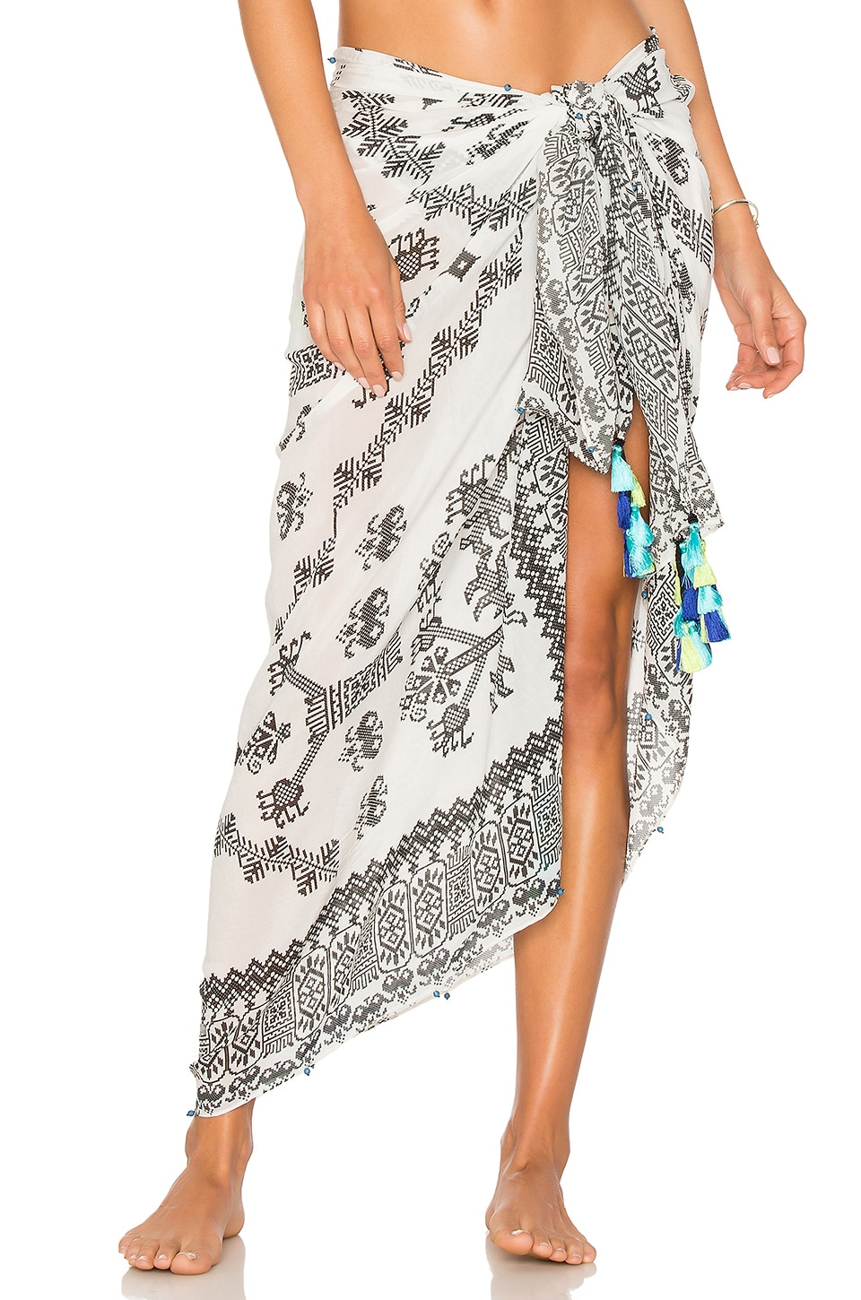 ROCOCO SAND Sarong in Black & White
