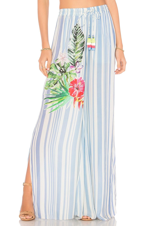 ROCOCO SAND Stripe Blossom Pants in Blue Stripe