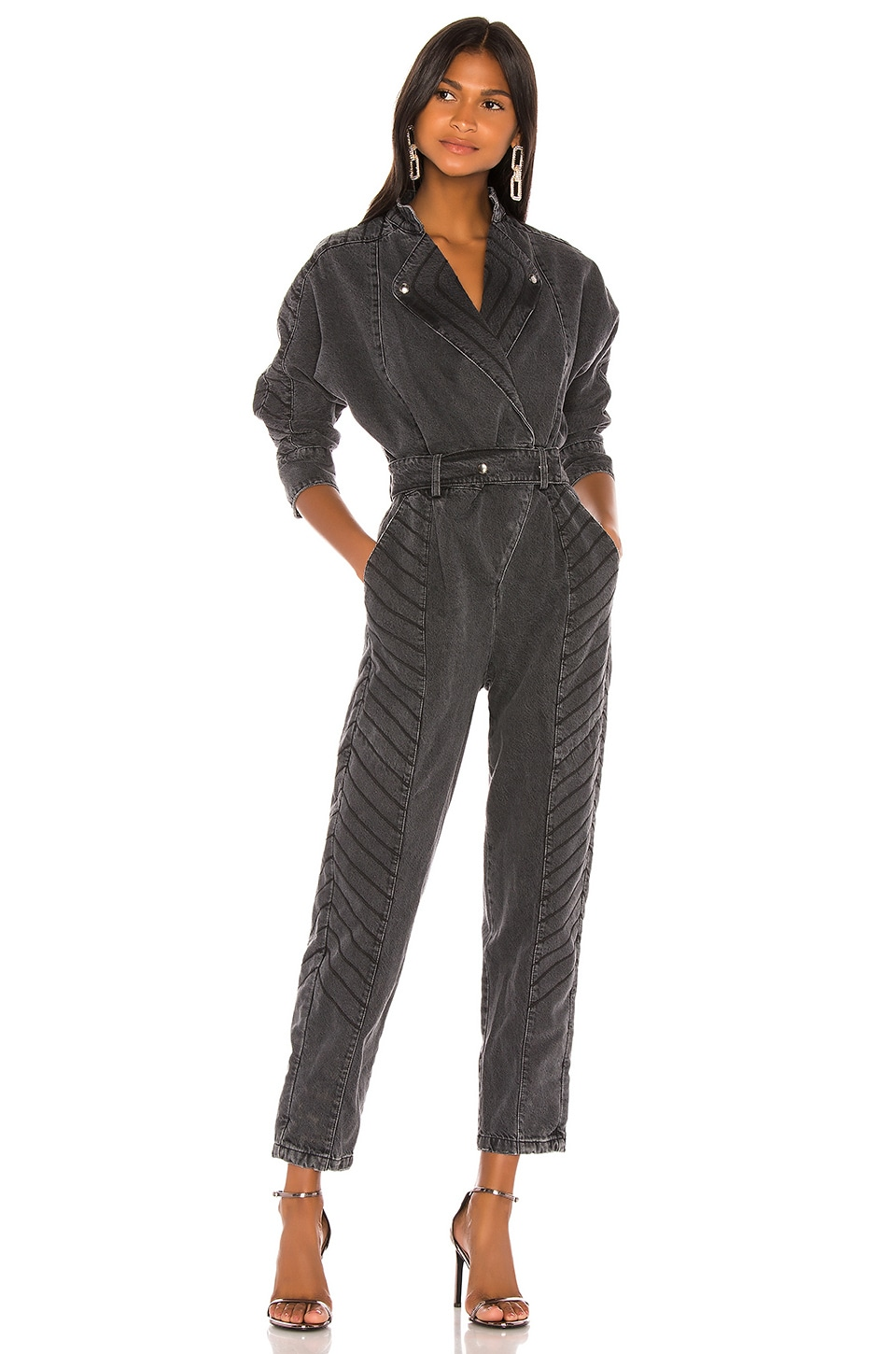 retrofete Milla Jumpsuit in Black Vintage
