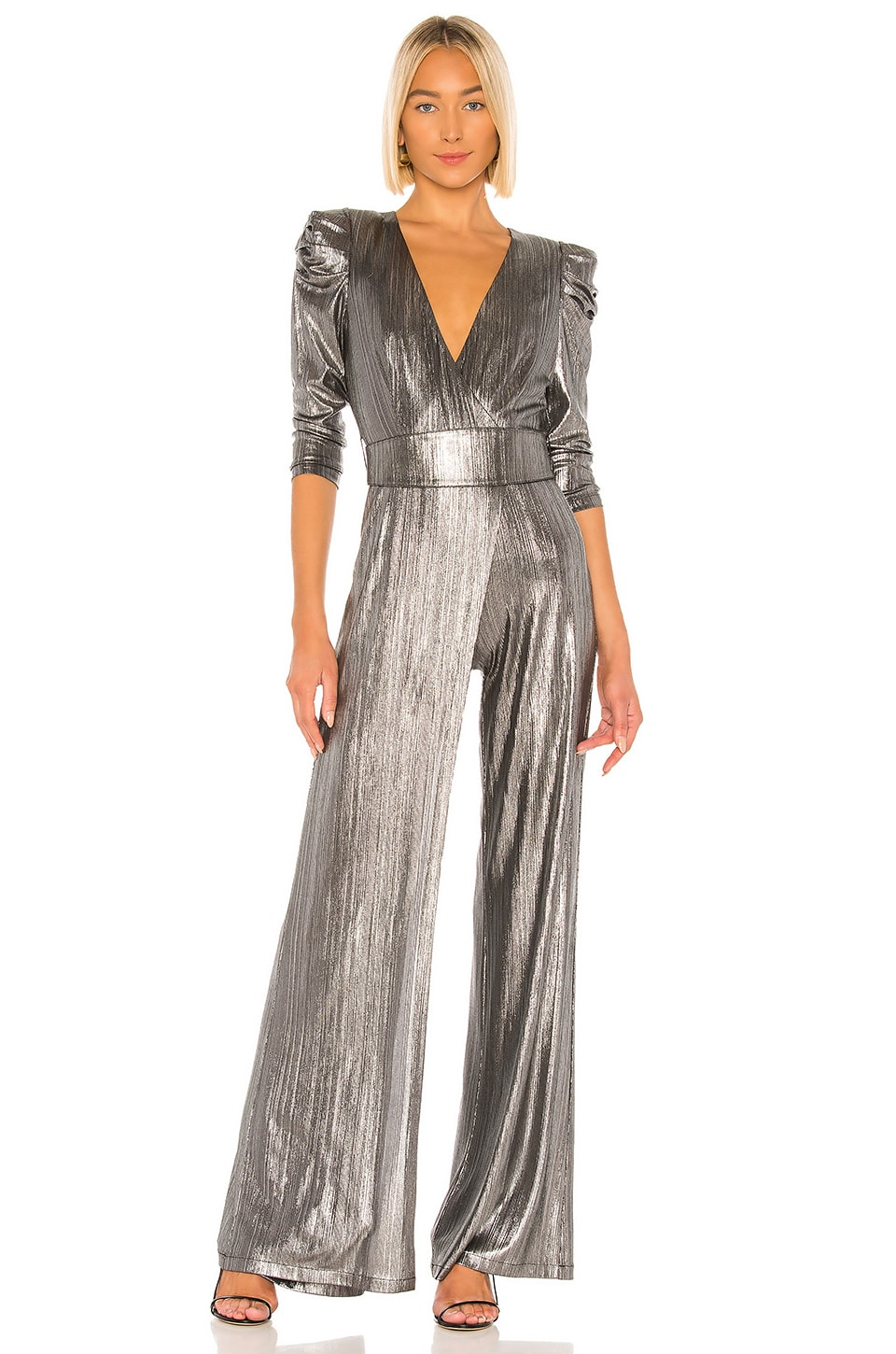 retrofete Monroe Jumpsuit in Gunmetal